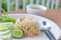 Fried rice thai style royalty free stock images
