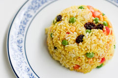 Fried rice. In Thai style with various vegetables Stock Photos