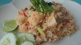 Fried-rice. Tom-yam-fish-fried-rice food lunch thaifood royalty free stock photo