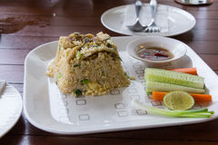 Fried rice with trichogaster pectoralis thai food Royalty Free Stock Photos