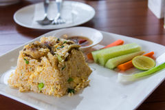 Fried rice with trichogaster pectoralis thai food Stock Photography