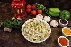 Fried Rice Vegetable Arkivfoto