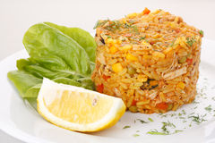 Fried rice with vegetables Royalty Free Stock Image