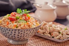Fried rice. With vegetables,asian food Royalty Free Stock Photography