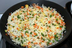 Fried rice with vegetables Royalty Free Stock Photography