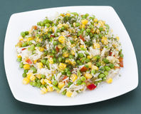 Fried rice with vegetables Stock Image