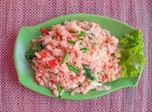 Fried rice with vegetables, popular asian food Stock Photos