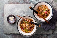Fried Rice with vegetables and sesame Stock Image