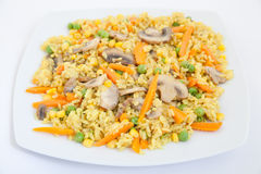 Fried Rice with Vegetables Stock Images