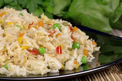 Fried rice with vegetables Royalty Free Stock Images