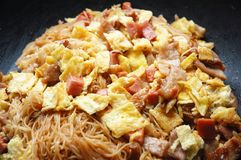 Fried rice vemicelli Royalty Free Stock Photos
