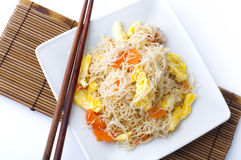 Fried rice vermicelli Royalty Free Stock Photo