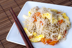 Fried rice vermicelli Royalty Free Stock Image