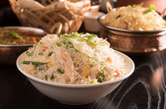 Fried rice in a white bowl. Royalty Free Stock Photo