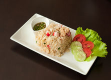 Fried Rice With Crab Meat Stock Photos
