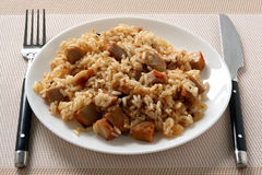 Fried Rice With Pork Stock Images