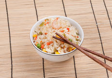Fried Rice With Vegetables And Prawn Royalty Free Stock Photo