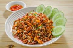 Fried riceberry rice Stock Image