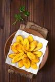 Fried Ripe Plantain Slices Stock Photo