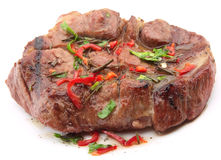 Fried roast beef with spices Stock Image