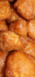 Fried or roasted food. Background of fried or roasted food Stock Photography