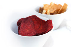 Fried root vegetable chips Royalty Free Stock Photography