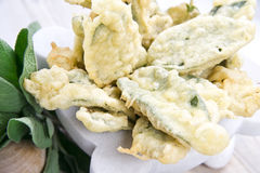 Fried sage leaves Stock Images
