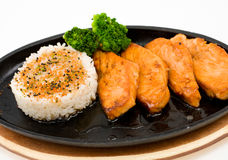 Fried salmon Royalty Free Stock Image