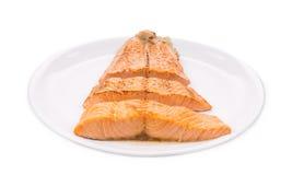 Fried salmon fillet. Stock Photo