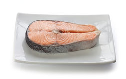 Fried salmon Stock Photography
