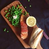 Fried salmon Stock Photos