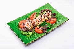Fried salmon roll Royalty Free Stock Images