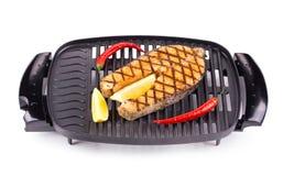 Fried salmon steak Royalty Free Stock Photography