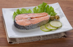Fried salmon Royalty Free Stock Photography