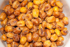 Fried salted Mexican corn background Stock Images