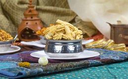Gathiya Namkeen. Fried and salty food Gathiya Namkeen stock photography