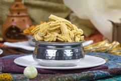 Gathiya Namkeen. Fried and salty food Gathiya Namkeen royalty free stock images