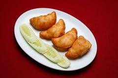Fried Sambousek Stock Photo