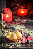 Fried samosa with meat Royalty Free Stock Photo