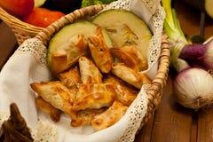 Fried samosas Stock Photo