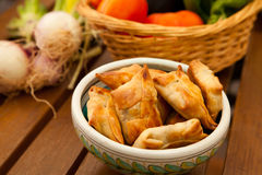 Fried samosas Royalty Free Stock Image