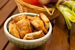 Fried samosas Royalty Free Stock Images