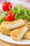 French toast with eggs and mozzarella Royalty Free Stock Photo