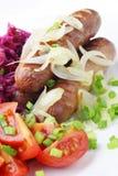 Fried sausage. Stock Photo