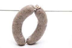 Fried sausage with cord Stock Image