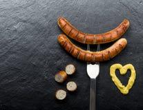 Fried sausage Stock Image