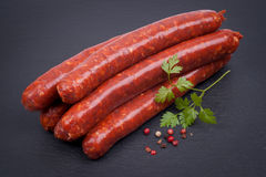 Fried sausage with lamb Stock Photos