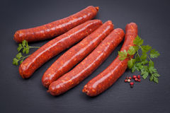 Fried sausage with lamb Royalty Free Stock Image