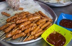 Fried sausage stick Stock Photos