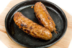 Fried sausages Royalty Free Stock Photography